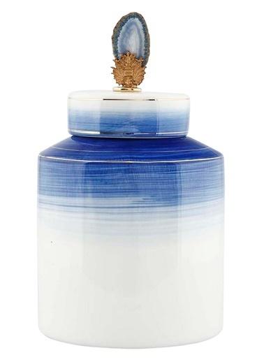 Vitale Seramik Kapaklı Vazo Büyük Boy Renkli